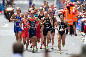 Athletes in the current world champs event say they've welcomed Auckland's tough triathlon course. Photo / Steven McNicholl