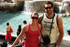 Michelle Notman and Hoani MacDonald at the Trevi Fountain in Rome. Photo / Supplied