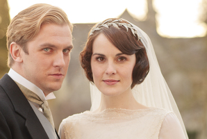Matthew and Mary finally made it down the aisle on the opening of Downton Abbey's third season. Photo / Supplied