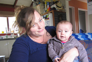 Catherine Owen, with 18-week-old Brianny, says several people have told her to lay a complaint. Photo / APN