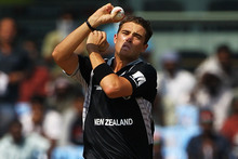 Were Tim Southee's test figures in Bangalore last month a false dawn or the start of his rise to become NZ's top fast-medium bowler? Photo / Getty Images