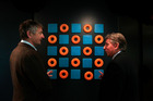 William Somerville and Bruce Hassall of PwC with Mode by Denise Kum. Photo / Michael Craig