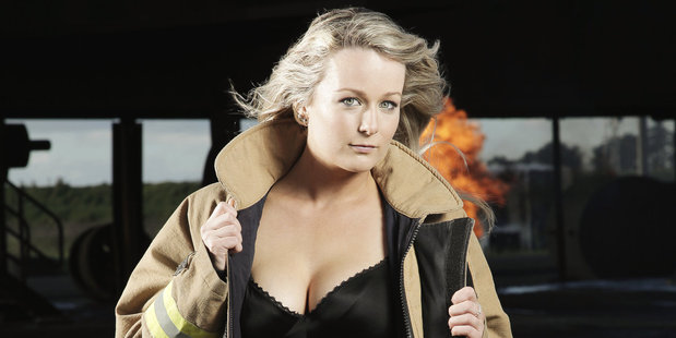 Arden sets the cover for the calendar ablaze. Photo / Supplied