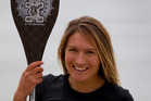 World champion stand up paddleboarder Annabel Anderson loves the water. Picture / Sarah Ivey