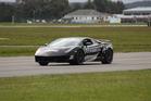 Eddie Freeman in the modified Lamborghini. Photo / Supplied