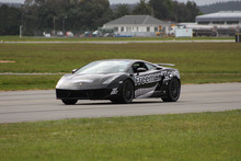 Eddie Freeman in the modified Lamborghini. Photo / Supplied