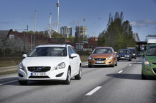 Volvo will introduce technology allowing cars to automatically follow the vehicle in front in slow-moving queues, in 2014.