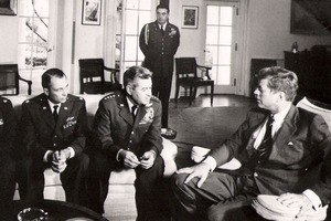 Jack Kennedy had no idea the missile crisis dragged on a month longer. Photo / AP