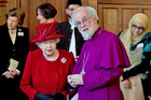 Queen Elizabeth II with the Archbishop of Canterbury Rowan Williams. Photo / AP