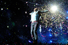 Will Coldplay's Chris Martin be ecstatic again?  Photo / AP