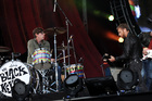 Guitarist Dan Auerbach, right, and drummer Patrick Carney make a huge racket for such a small band.  Photo / AP