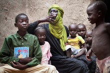 About a third of the northern Malian population has fled from bitter fighting. Photo / AP