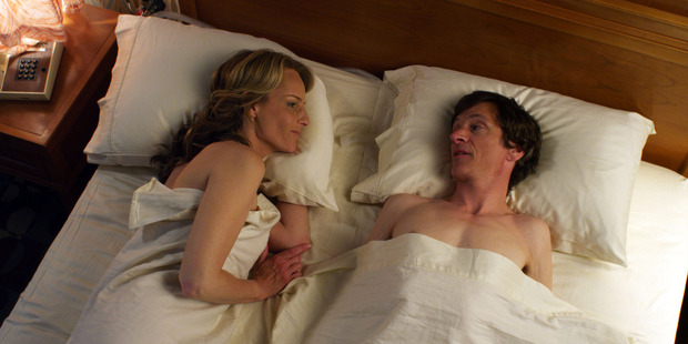 Helen Hunt and John Hawkes didn't meet until their first scenes together in The Sessions. Photo / Supplied