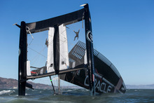 The 72-foot catamarans have proven too much for many potential America's Cup challenges. Photo / Guilain Grenier