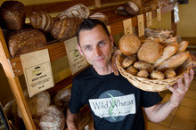 Andrew Fearnside, owner of Wild Wheat specialty breads, says buying a property was the best thing he could have done. Photo / Richard Robinson