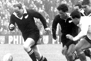 Wilson Whineray and Waka Nathan lead the way for the All Blacks. Whineray, a statesman-like figure on and off the field, lived life to the fullest and without regrets. Photo / Supplied