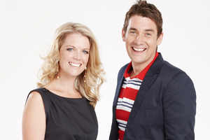 Jeanette Thomas and Rod Cheeseman front Good Morning. Photo / Supplied