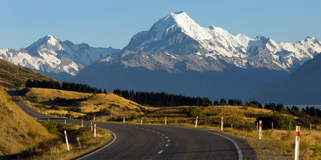 Aoraki Mt Cook towers above the remote landscape. It was Sir Edmund Hillary's first big climb before he scaled Everest. Photo / Simon Baker