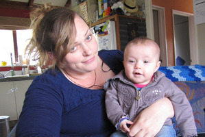 Catherine Owen, of Wanaka, was removed from court for breastfeeding baby Brianny. Photo / Otago Daily Times