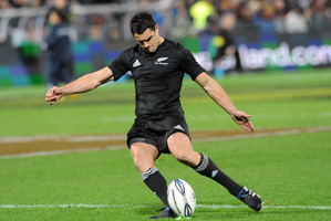 Dan Carter missed with his late attempt to win last weekend's test. Photo / NZPA