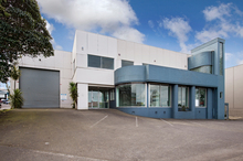 The two-level office block fronts Great South Rd. Photo / Bruce Clarke