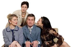 Peter Feeney's klutzy character tries to stave off a mid-life crisis with an extra-marital affair. Photo / Supplied