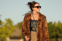 Toni Collette plays Shaz, a hitchhiking, pot-smoking babysitter. Photo / Supplied 