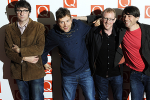 Blur arrive at the Q Awards in London, where they were named best live act. Photo / AP