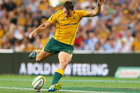 New Zealand-born Wallabies' centre Mike Harris kicked 15 points against the All Blacks. Photo / Getty Images