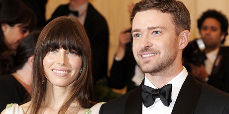 Jessica Biel and Justin Timberlake have been snapped with their wedding bling. Photo / AP