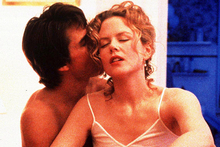 Tom Cruise and Nicole Kidman in a racy scene from Stanley Kubrick's Eyes Wide Shut. Photo / Supplied