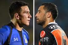 Sonny Bill Williams and Benji Marshall. Photos / Jun Tsukida/Matt Roberts