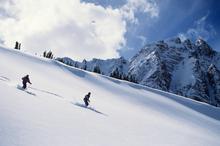 Skiers negotiate the slopes of Jasper National Park, Alberta, Canada. Photo / Thinkstock