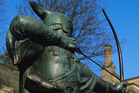 Nottingham has celebrated its association with Robin Hood by naming its airport after him and erecting this statue outside Nottingham Castle. Photo / Thinkstock