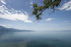 Lake Geneva is seen from the Lavaux, near Chexbres. Photo / AFP