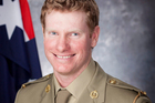 Australia's latest Victoria Cross recipient Corporal Daniel Keighran. Photo / AP