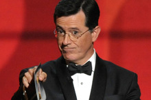 Peter Jackson won't confirm reports that Stephen Colbert will make a cameo appearance in one of his Hobbit films. Photo / AP