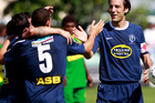 Auckland City got their ASB Premiership campaign off to a perfect start today, thrashing last season's runners up Canterbury United 5-2 at Kiwitea street. Photo / Getty Images.