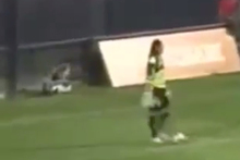 When Argentinian goalkeeper Gaston Sessa takes a look back at his most recent performance for Boca Unidos, he is sure to be disappointed with himself. Photo / Youtube.