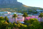 The famous pink exterior of the Mount Nelson Hotel in Cape Town. Photo / Supplied