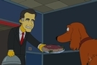 An election eve appeal from Montgomery Burns. Mr. Burns puts Shamus the dog to the test of choosing between Barack Obama and Mitt Romney.