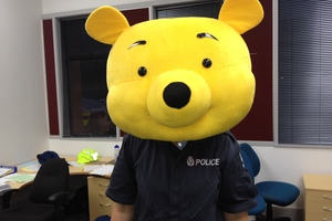 This costume was among items recovered by police in Hamilton this morning. Photo / NZ Police