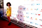 Kimbra arrives at the Vodafone NZ Music Awards held at Vector Arena. Photo / Dean Purcell.