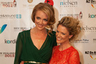 Petra Bagust and Jeanette Thomas at the New Zealand Television Awards last night. Photo / Neville Marriner