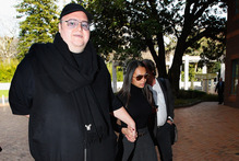Kim Dotcom, with wife Mona, says NZ would attract foreign business. Photo / Getty