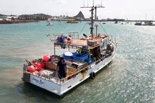 The fishing boat, Compass Rose, at Port Taranaki in New Plymouth. Photo / Mark Mitchell