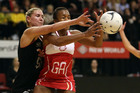 Casey Williams (left) battled injury during her year, and England's Pamela Cookey captained a team kept under-strength by England Netball's hardline attitude. Photo / Getty Images