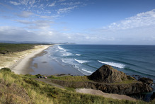 A proposed new golf course between Pakiri and Mangawhai. A view from Te Arai towards Mangawhai. Photo / Supplied
