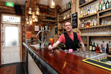 Shane Brogan of Charlie Baxter's Bar, Ellerslie. Photo / Doug Sherring