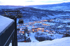 Twinkling lights over Yampa Valley and Steamboat Springs from the top of the resort's gondola. Photo / Sheriden Rhodes